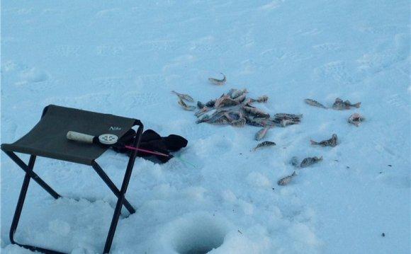 Река Кама рыбалка зимняя